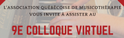 Colloque 2021 de l'AQM